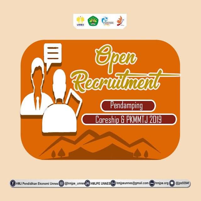 OPEN RECRUITMENT PENDAMPING CORESHIP & PKMMTJ 2019