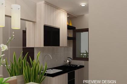 Jasa Desain Interior Kitchen set apartemen minimalis harga murah