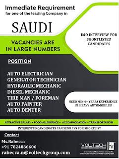 Heavy Automobiles company Requirement