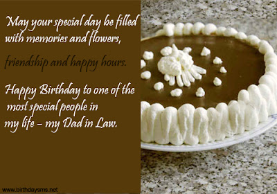 Happy Birthday  wishes quotes for father-in-law: may your special day be filled with memories