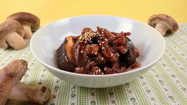 牛肉としいたけの中華風炒めレシピ
