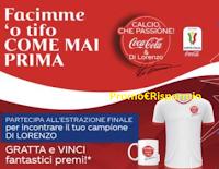 """Logo Concorso Coca-Cola """"Calcio che passione"""" : 1600 premi in palio"""