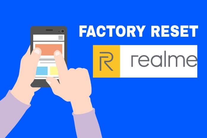 Cara factory reset realme