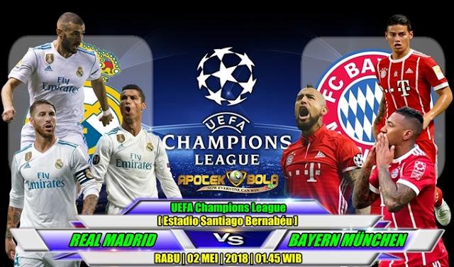 Prediksi Real Madrid vs Bayern Munich 2 Mei 2018