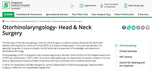 ENT specialists in SGH