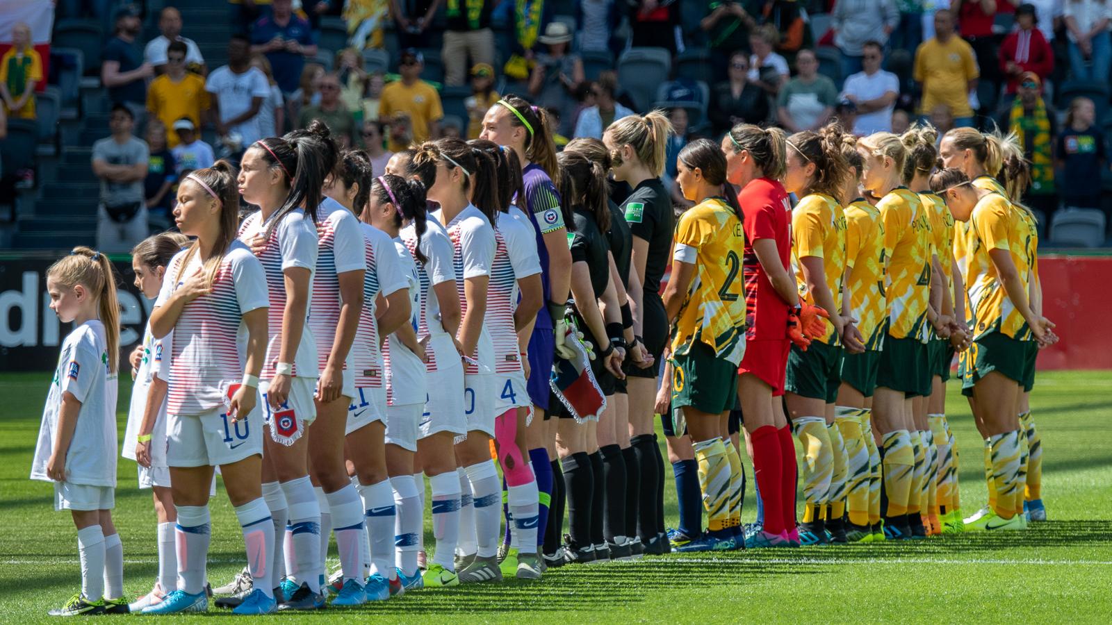Australia y Chile en partido amistoso femenino, 9 de noviembre de 2019