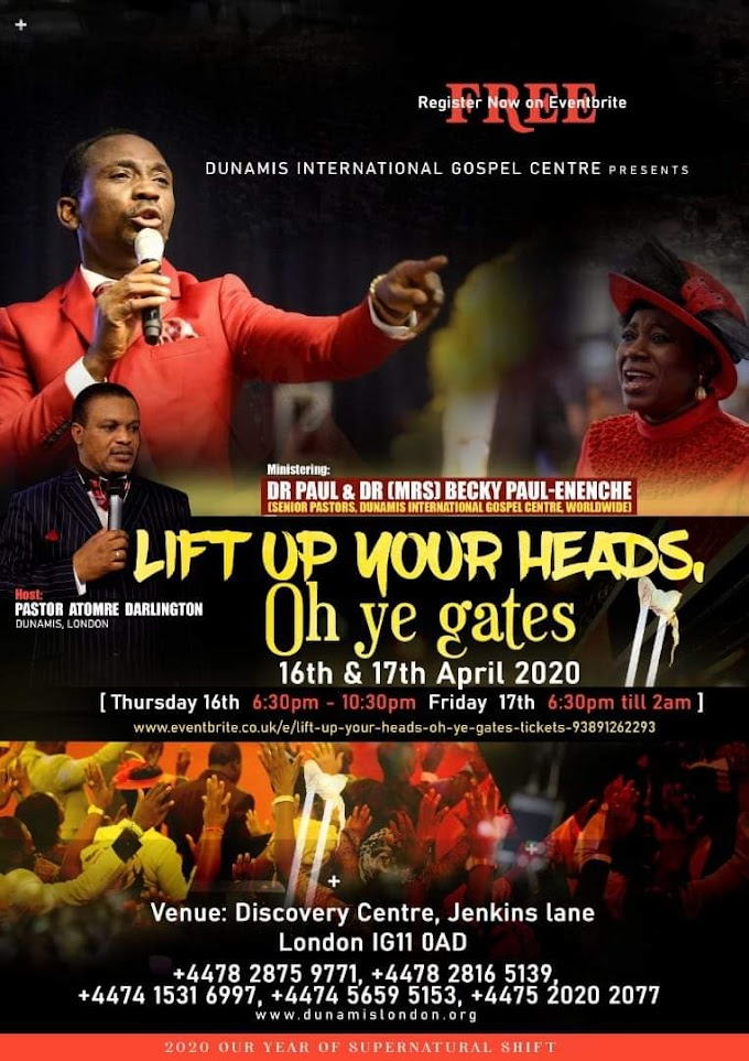 "DIGC London LIFT UP YOUR HEADS OH YE GATES"" on the 16th and 17th of April 2020 in London"