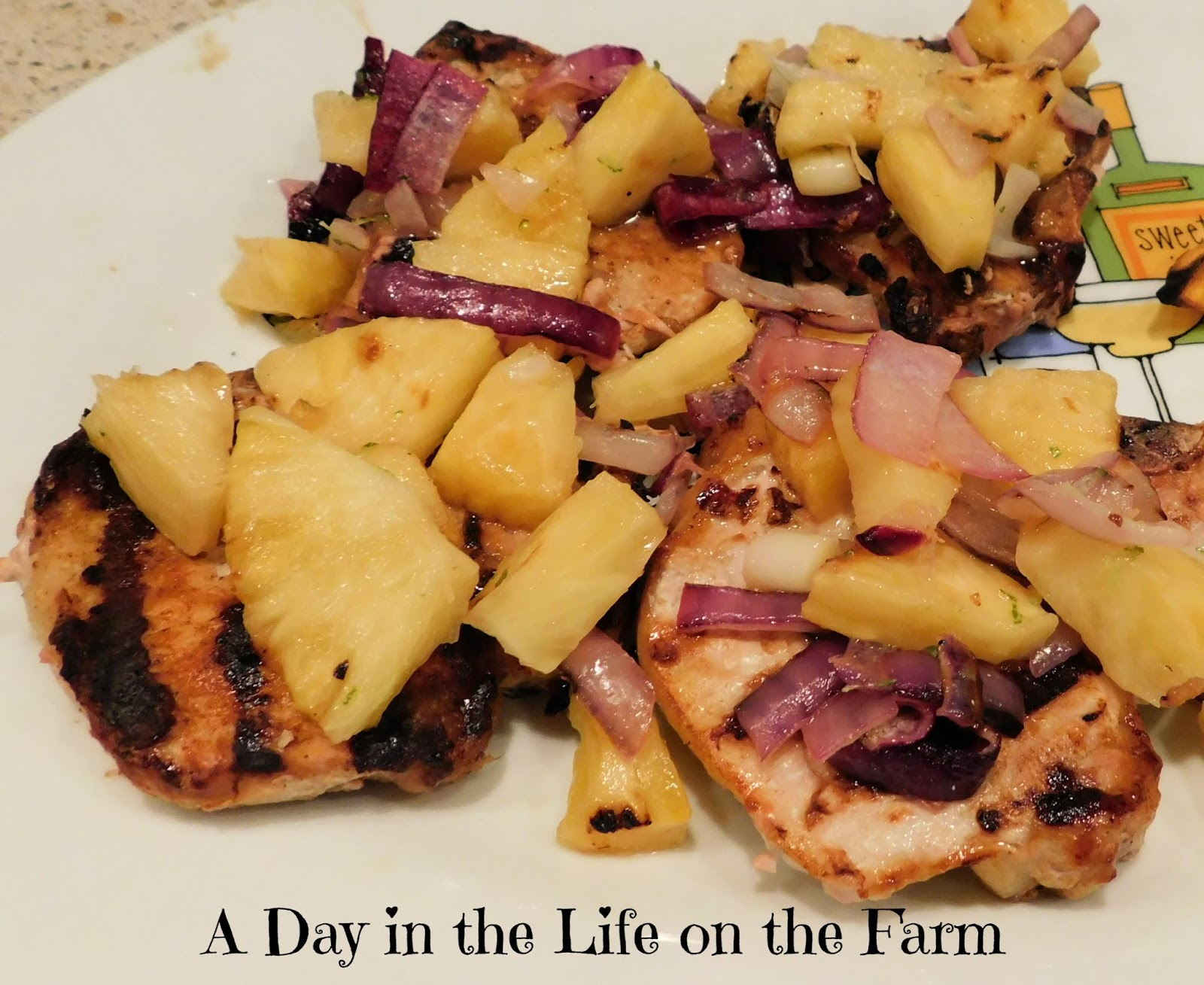 Grilled Pork Chops with Pineapple Salsa