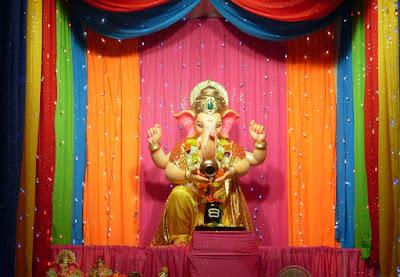 simple decoration for ganpati at home