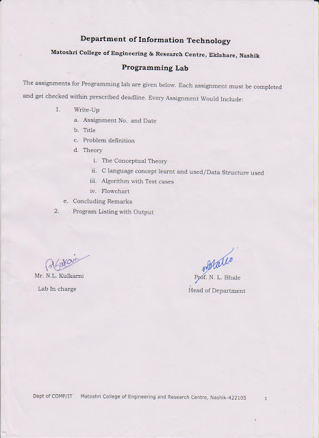 Academic: Programming Lab Assignment List with Journal Format