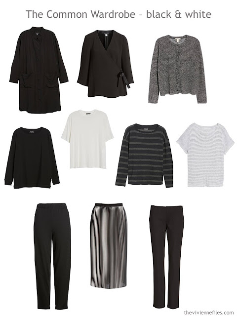 a 10-Piece Black and White Common Wardrobe