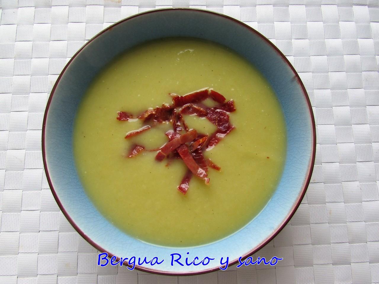 Comer rico y sano: Crema de puerro y crujiente de jamón - photo#36