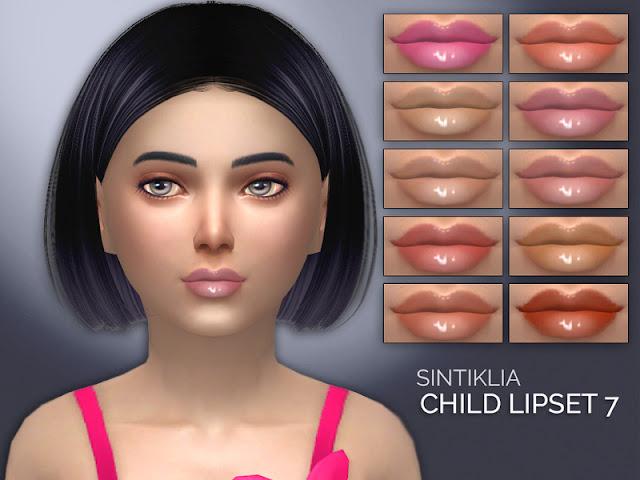 Губная помада детская для The Sims 4 со ссылками на скачивание