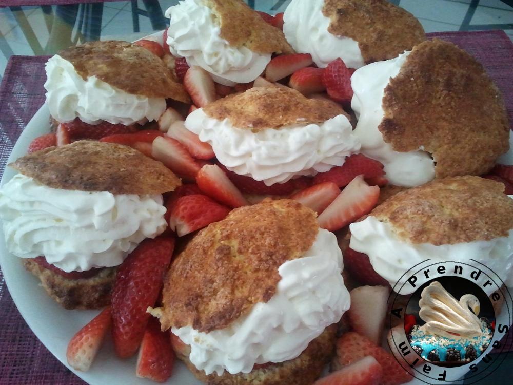 Tartes aux fraises individuelles à l'américaine