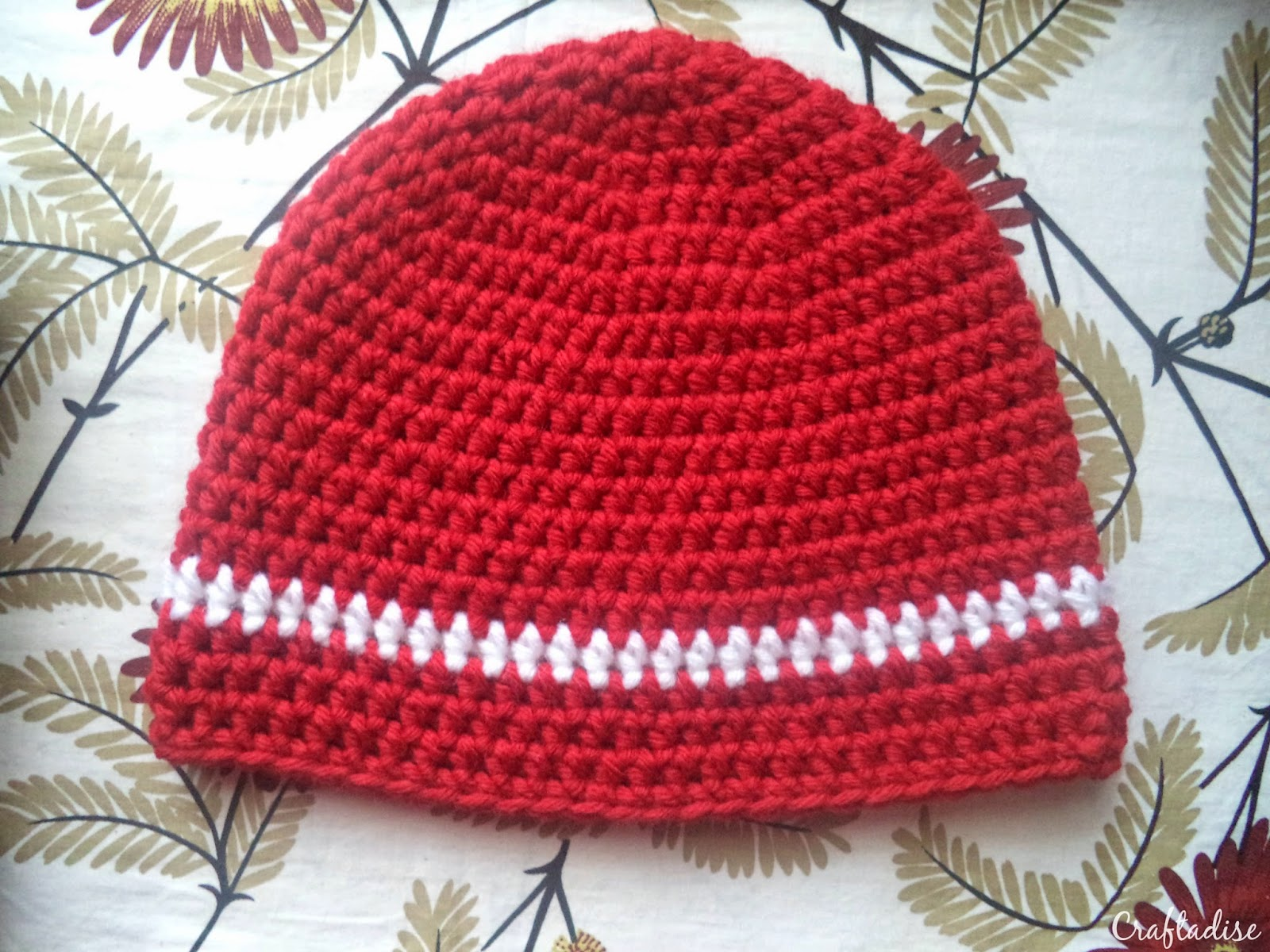 Free Crochet Pattern: Half Double Crochet Arsenal Hat - Part 1