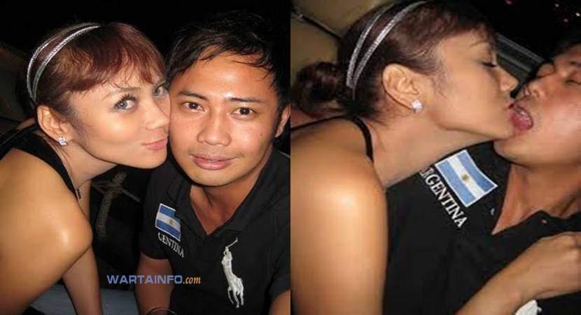 Foto skandal Ciuman bibir Hot Mesra penuh nafsu Anita Hara Artis presenter cantik Indonesia tanpa sensor