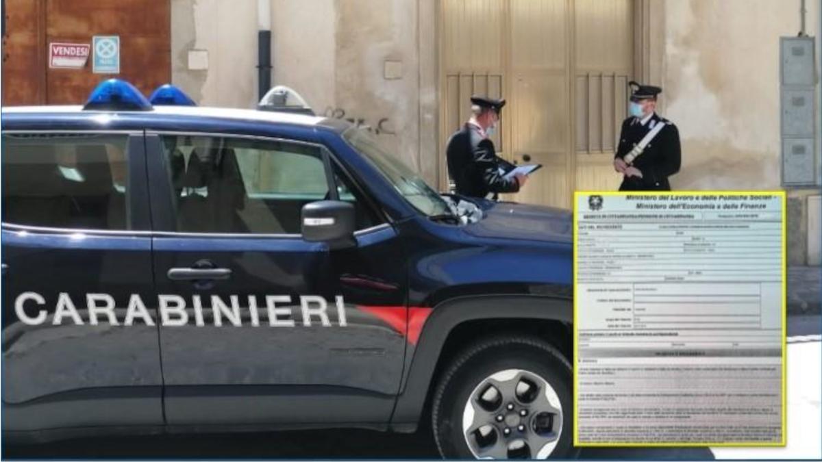 Grammichele Carabinieri reddito di cittadinanza
