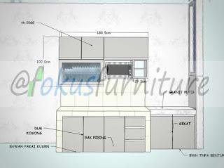 Gambar desain kitchen set minimalis Cilandak