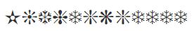 Символьный шрифт ITC Zapf Dingbats