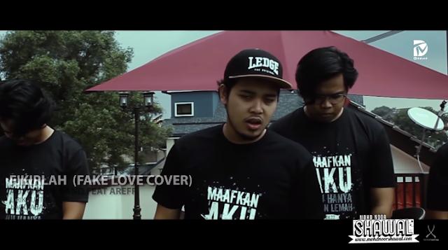 Lirik Autotune Band feat Areef - Fikirlah (Cover Fake Love)