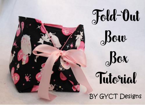 Sewn Storage box with bow tie