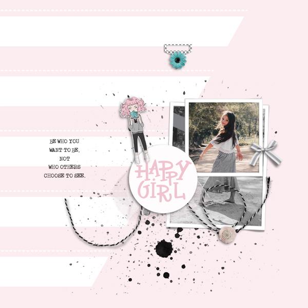 happy girl © sylvia • sro 2019 • a girl life & a boy life / a girl life layered templates by rachel etrog designs