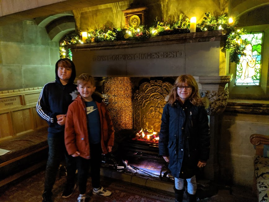 Christmas & Santa at Cragside Review  - Festive Fireplace