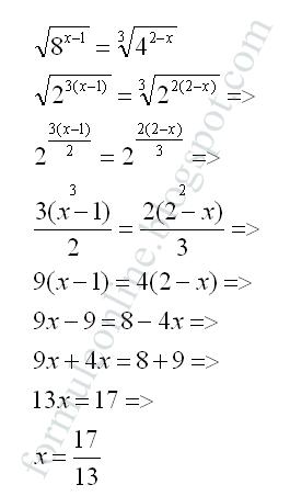 ecuatii exponentiale formuleonline.blogspot.com