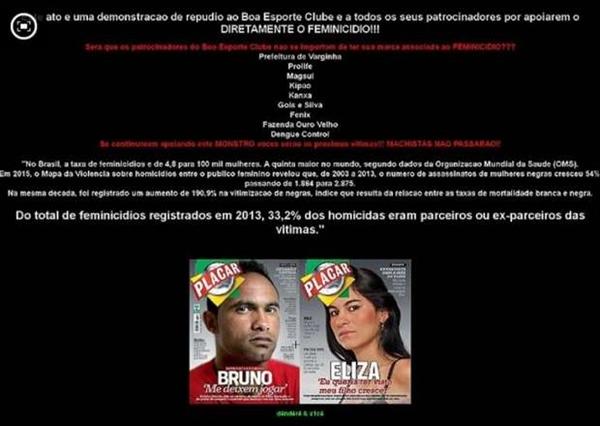 Hackers invadem site do clube que contratou o goleiro Bruno
