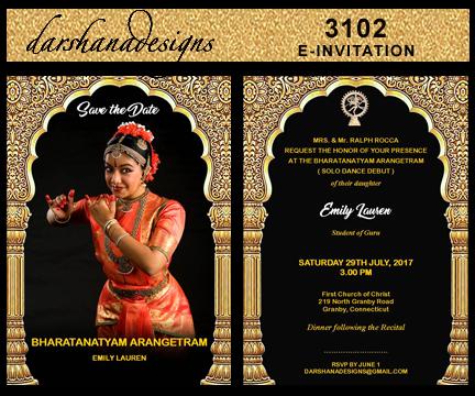 Darshanadesigns Arangetram E Invitation Templates