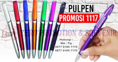 Pulpen Promosi 1117, Pena Pen Souvenir, gift pen, Pulpen 1117 Warna Full Ekslusive, Pulpen 1117 silver dan putih