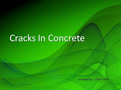 cracks in concrete ppt download free
