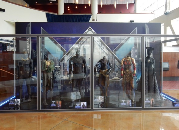 Black Panther film costume exhibit