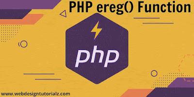 PHP ereg() Function