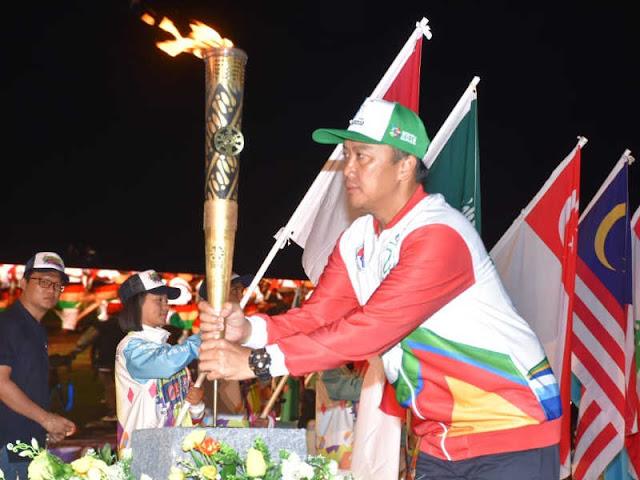 Endro Satoto Hadiri Puncak Haornas dan Kirab Obor Asian Para Games 2018
