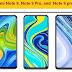 Redmi Note 9, Redmi Note 9 Pro, and  Redmi Note 9 pro max