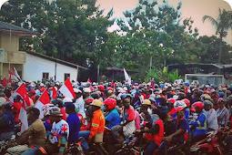 Karyawan PT Freeport Indonesia Konvoi May Day di Kota Timika