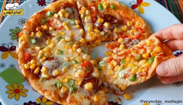 بيتزا في المقلاة - المطبخ التونسي