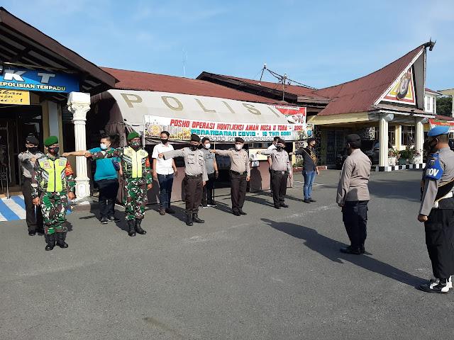 Sosialisasikan Pentingnya Pakai Masker Dilakukan Personel Jajaran Kodim 0207/Simalungun Bersama Dinas Terkait