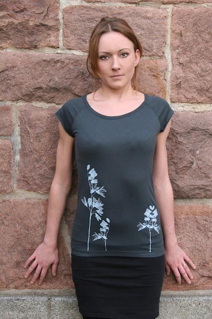 Shirt mit gedruckten Pflanzen