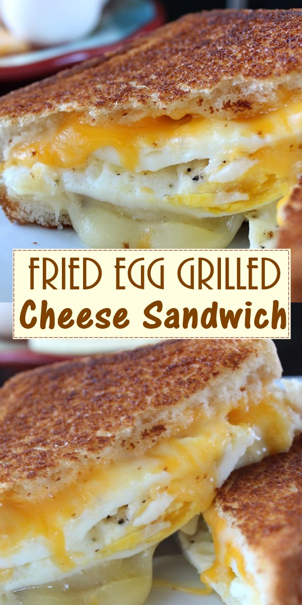 Fried Egg Grilled Cheese Sandwich #breakfastideas