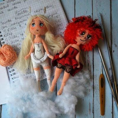 Вязаные куколки амигуруми
