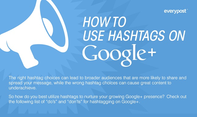Image: How to use Hashtags on Google+ #infographic