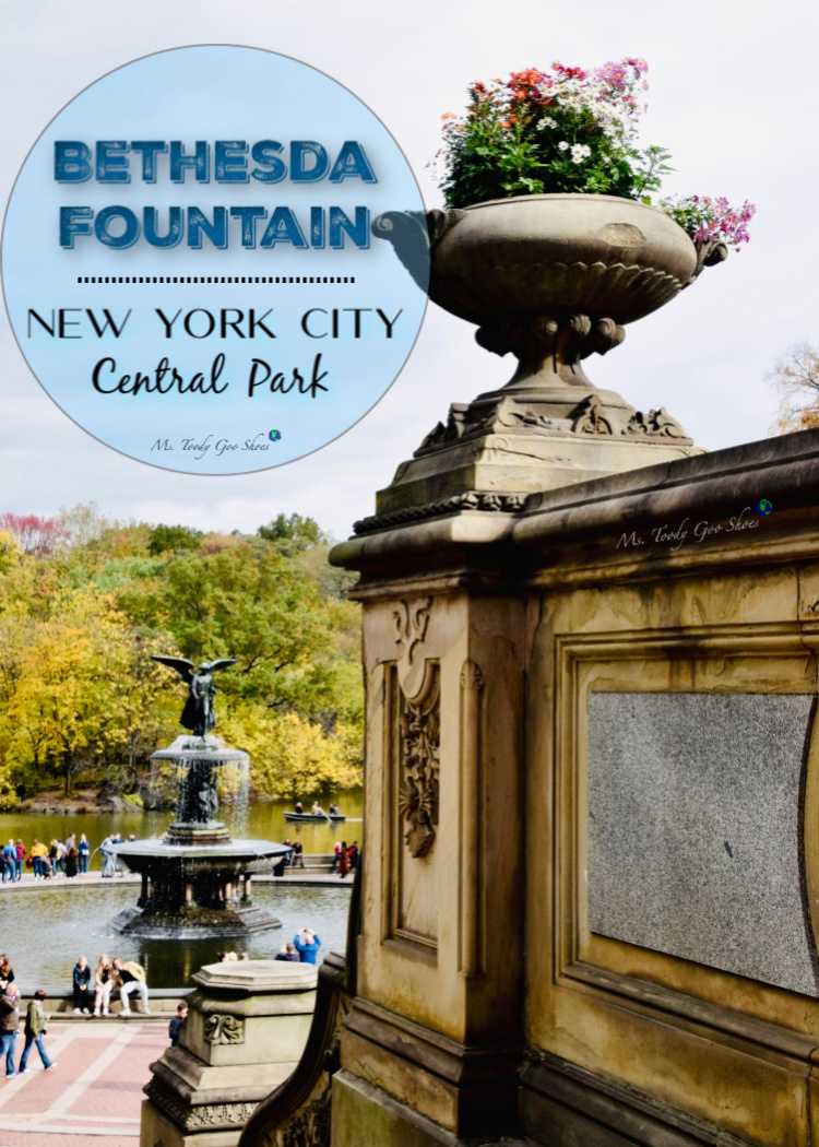 """Bethesda Fountain in Central Park is a """"must see"""" when visiting NYC. Ms Toody Goo Shoes #mycentralpark"""