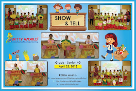 On the top of the World   : Show and Tell Activity (Sr  KG