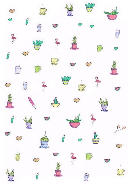 Free digital cactus scrapbooking paper - Geschenkpapier - freebie