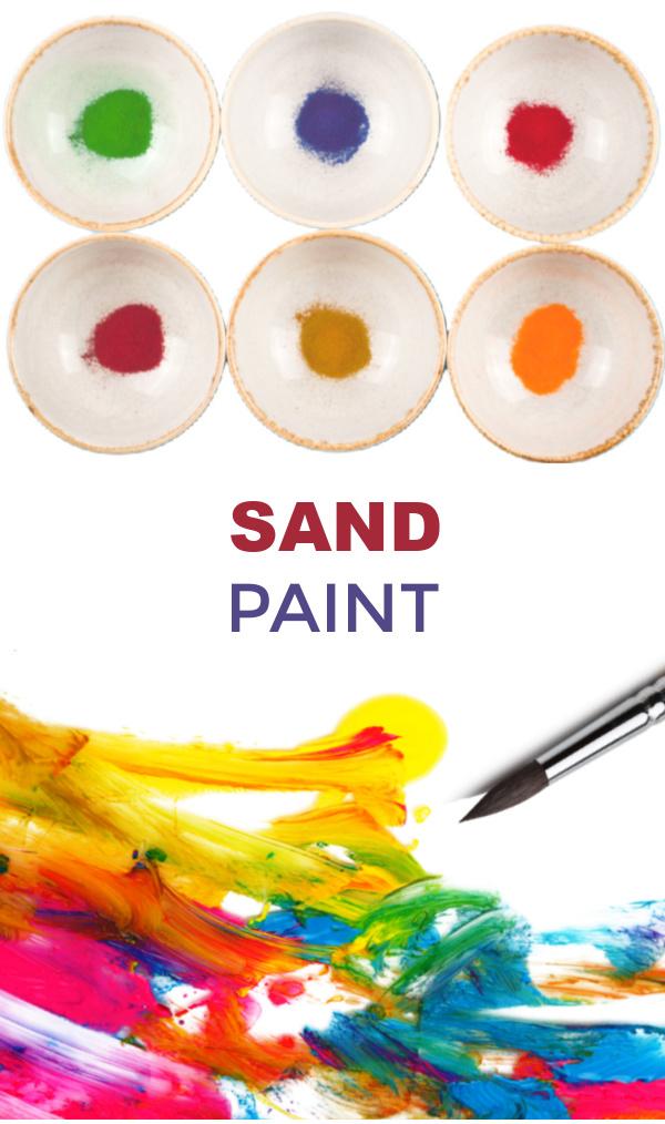 Turn sand into paint with this easy recipe for play! #sandboxideas #sandpaintingforkids #sandpaint #puffypaint #paintrecipeforkids #growingajeweledrose