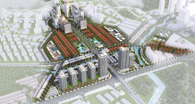 Phối cảnh dự án khu đô thị Vân Canh