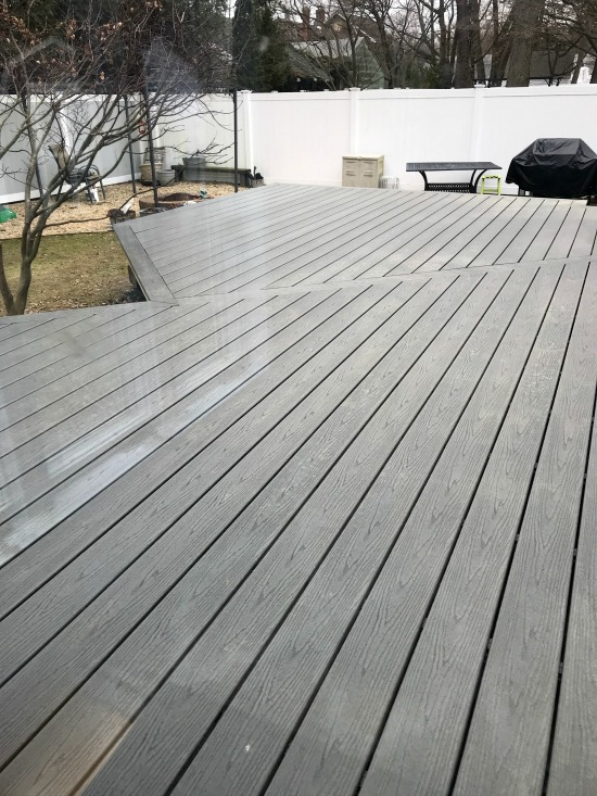 Designing and building a new deck using man-made Trex products