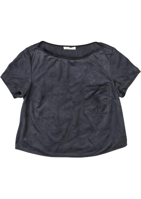 Moda Blusa Com Bolso Em Tecido De Suede Dzarm
